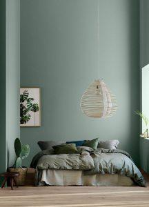 ekologiska lin påslakan grön vägg