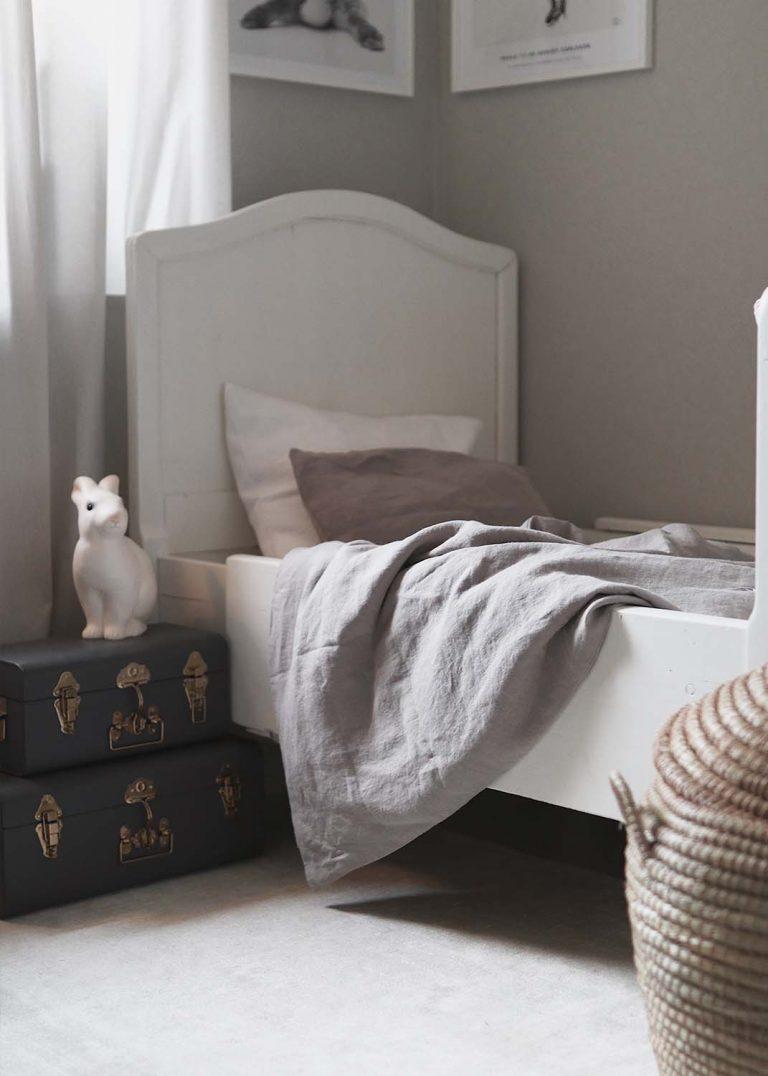 sängkläder för barn av linnetyg