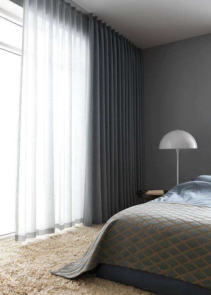 hotell känsla linnegardiner sovrummet