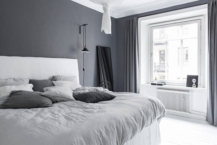 sängkläder linnetyg grå