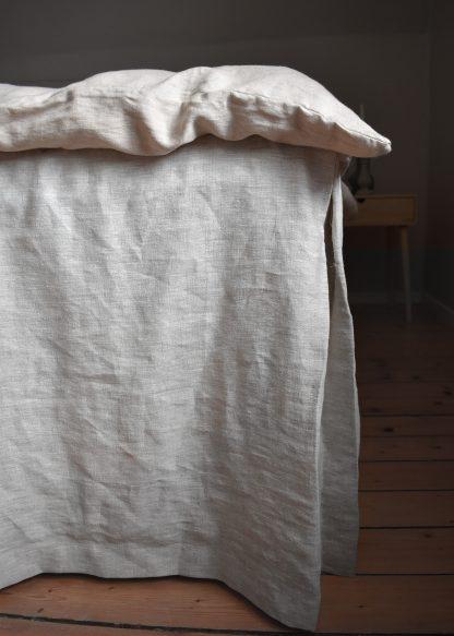 sängkappa linnetyg beige