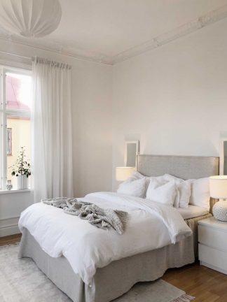 sängkappa av linnetyg