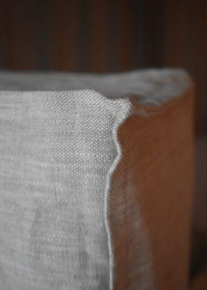 sänggavel överdrag linnetyg beige